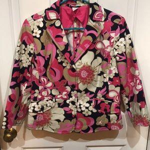 J Crew Wild Floral Jacket